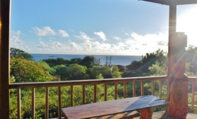 Tekarera Easter Island Hotel porch view