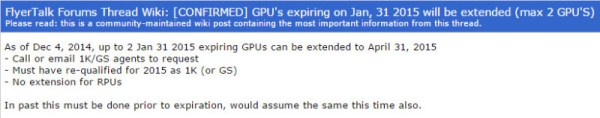extend expiring United GPU 2014