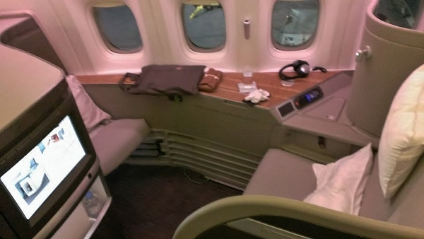 Cathay Pacific First Class JFK YVR seat Suite 1K