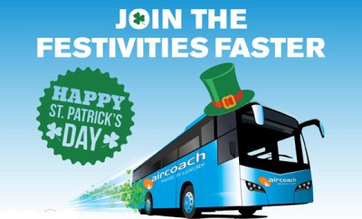 Air Coach Paddys Day Discount