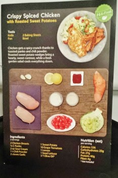Hello Fresh Review Old Recipe Card