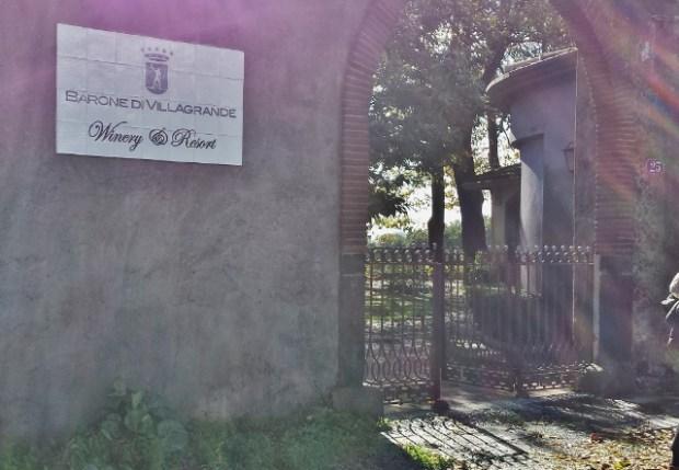 Sicily Wine Tour Barone di Villagrande entrance