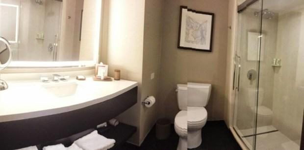 Grand Hyatt Denver Corner Room with a View bathroom