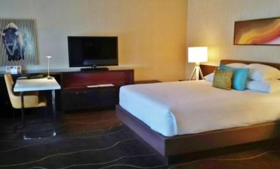 Grand Hyatt Denver Corner Room with a View king bed