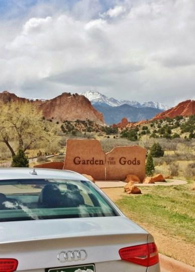 Silvercar garden of the gods entrance