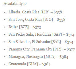 The Flight Deal Central America United Sale Destinations