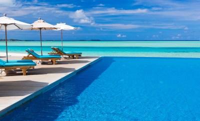 infinity pool tropics