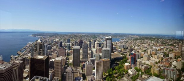 Sky View Observatory Columbia Center Seattle north view