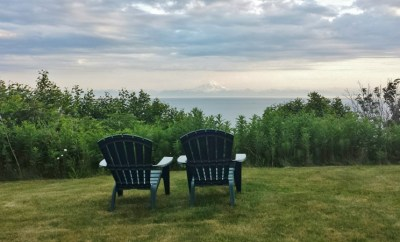 Backyard Chairs Bluff House Inn Kenai Peninsula