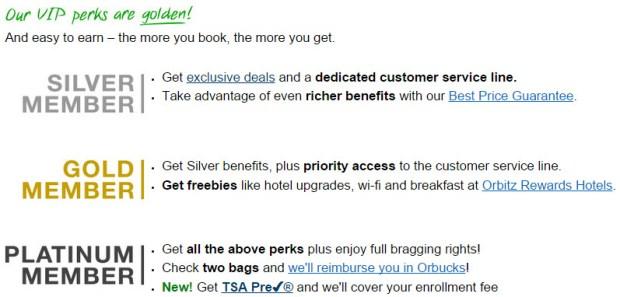 orbitz rewards status benefits