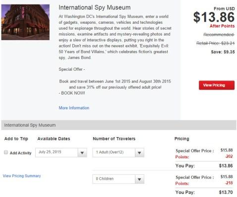 spy museum tickets verizon smart rewards