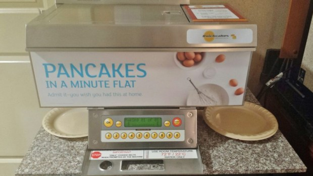 Holiday Inn Express Fairbanks pancake machine