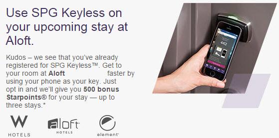 spg keyless 500 bonus points
