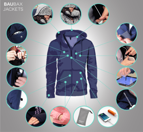 baubax travel jacket features kickstarter campaign
