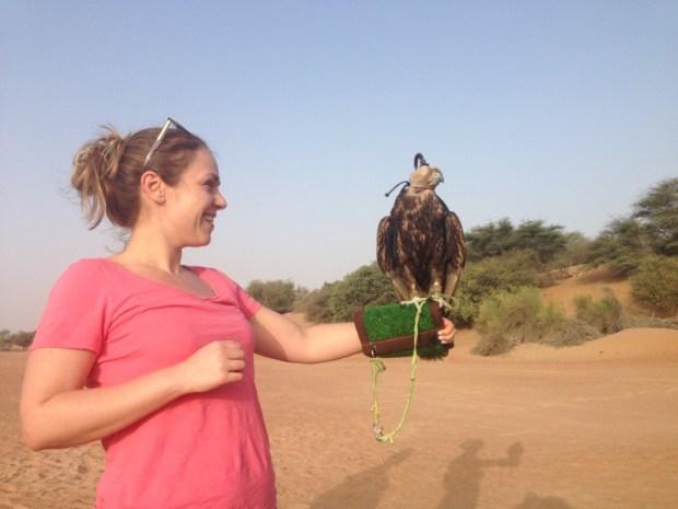 Al Maha Resort Dubai Denise falconry