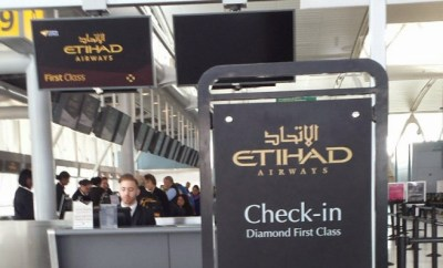 Etihad checkin JFK Terminal 4 first calss