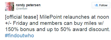 Milepoint Relaunch Tweet