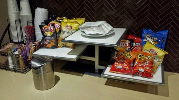 Sheraton Laguardia East Hotel club lounge snacks
