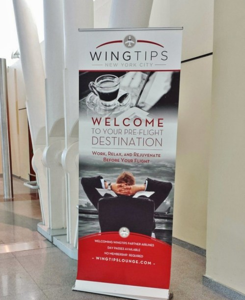 wingtips lounge jFK Terminal 4 sign