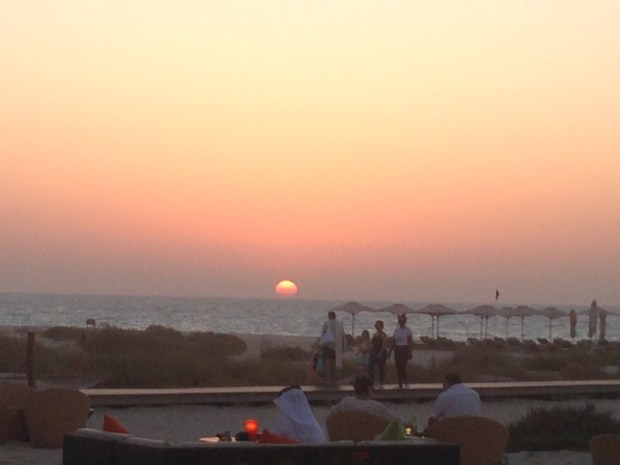 Abu Dhabi sunset park hyatt