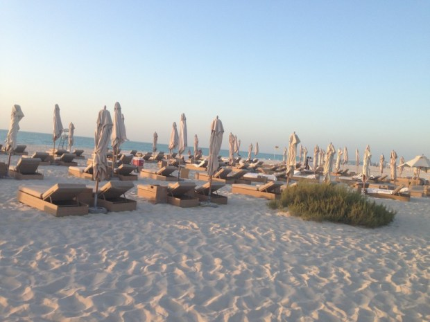 Beach from the Park Hyatt Abu Dhabi