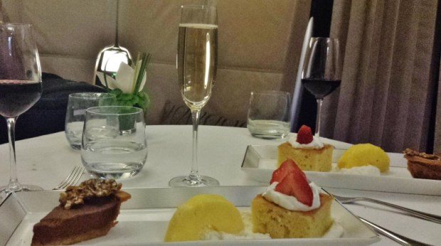 Etihad A380 Thanksgiving Dinner dessert