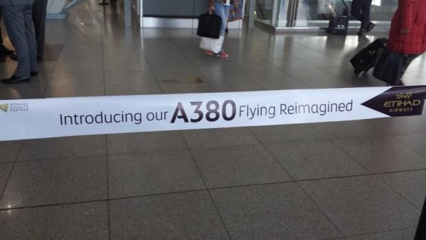 Etihad Inaugural A380 JFK-AUH banner