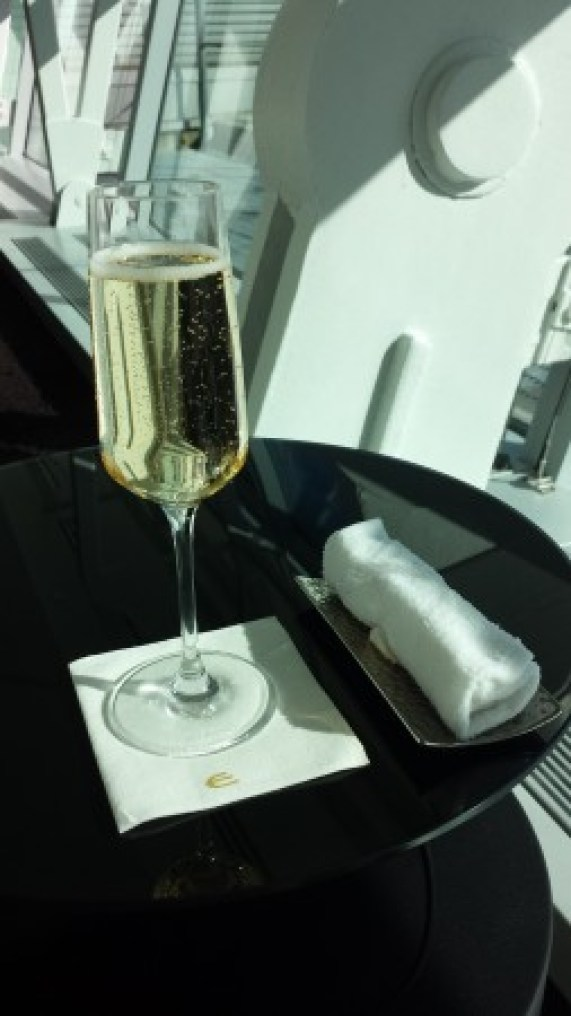 Etihad lounge jfk opening champagne hot towel