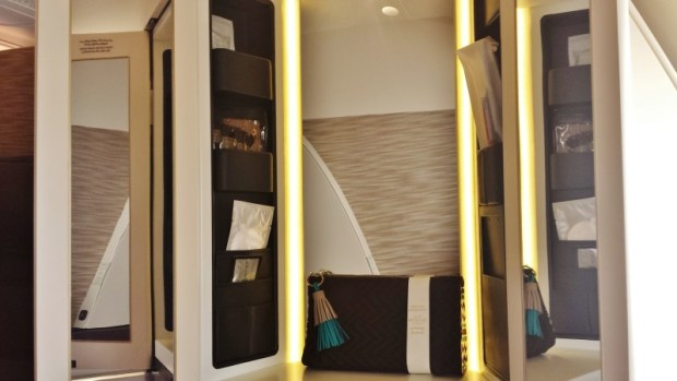 Inaugural Etihad A380 First Apartment JFK AUH vanity
