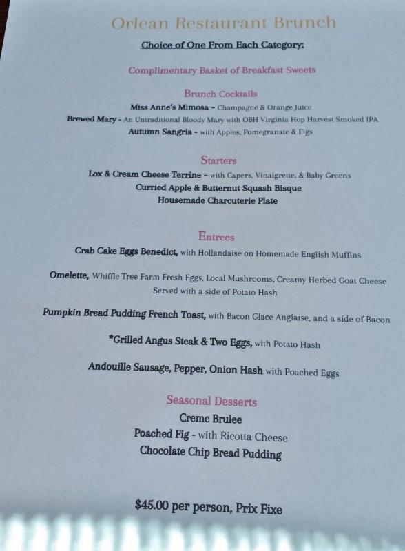 Orlean Market Virginia Forlano brunch menu