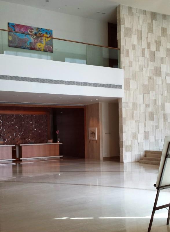 Park Hyatt Chennai lobby the next morning