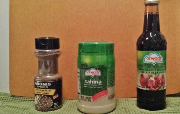 Spiced Pantry Review Lebanon Box tahini pomegranate molasses all spice