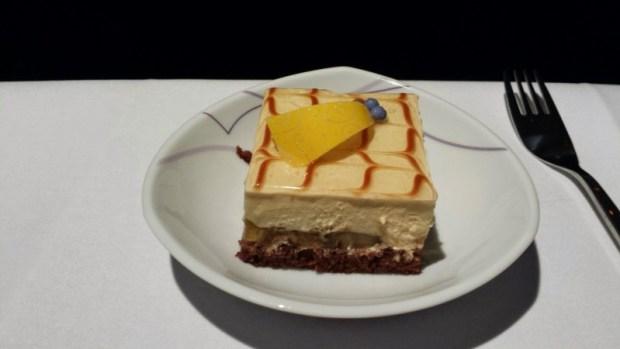Thai Airways Business Class Chennai Bangkok dessert