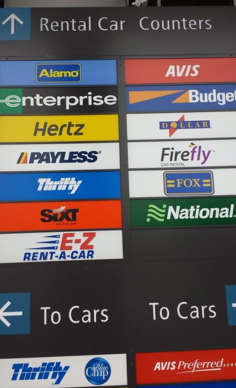 seattle rental car counter terminal