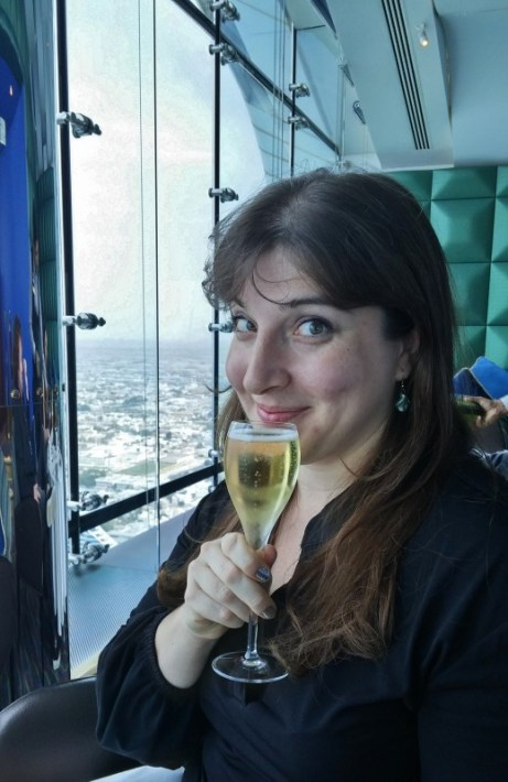 Burj Al Arab afternoon tea Skyview Bar Keri champagne