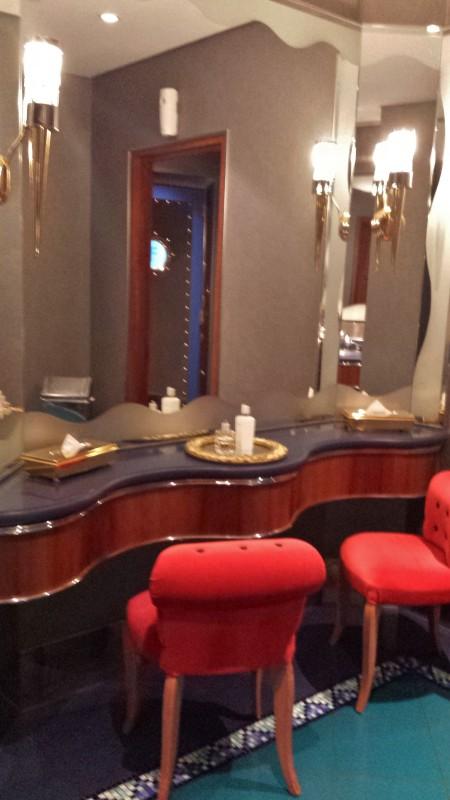Burj Al Arab afternoon tea Skyview Bar bathroom