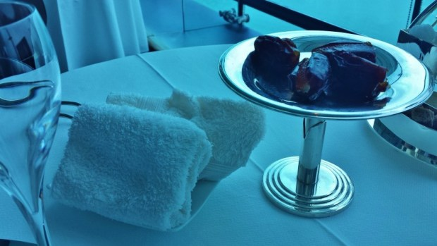 Burj Al Arab afternoon tea Skyview Bar towels