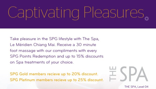 Le Meridien Chiang Mai The SPA discount