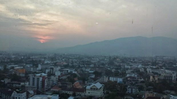 Le meridien chiang mai club lounge sunset view