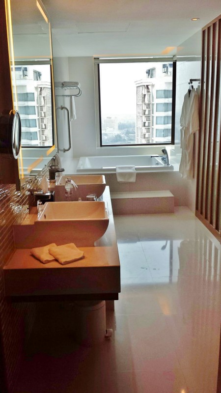 Le meridien chiang mai executive suite sinks bathroom