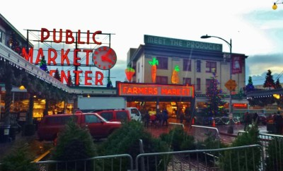 Pike Place Market Seattle Christmas Decor