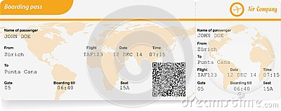 Boarding Pass Templates for Invitations Gifts