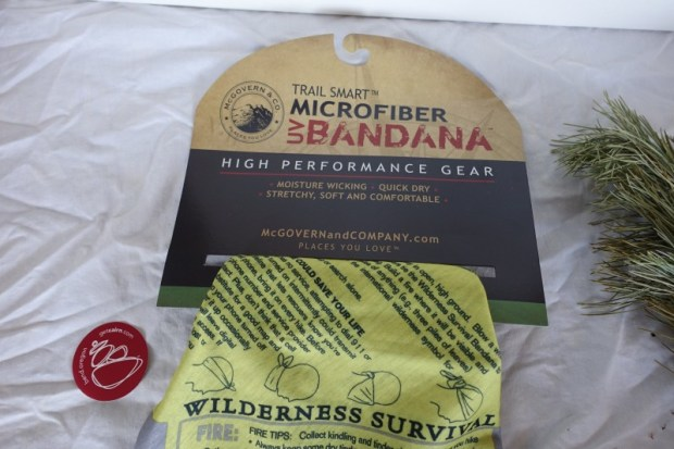Cairn box review January 2015 survival bandana