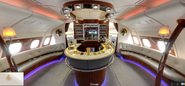Emirates A380 google street view