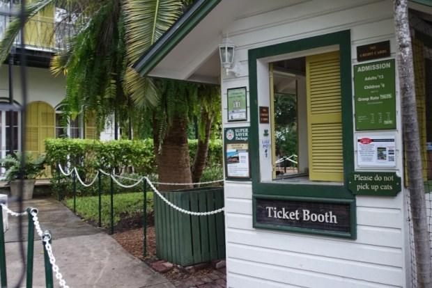 Hemingway House ticket booth