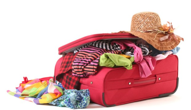 Summer suitcase packing