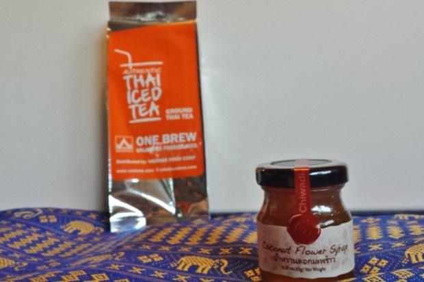Try the World Food Subscription Box Thailand Box ice tea coconut flower honey