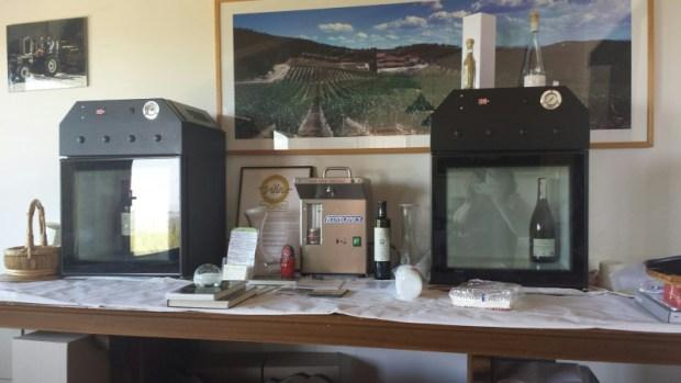 Tuscany wine tours isole e olena fridge