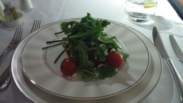 Etihad First LAX AUH salad
