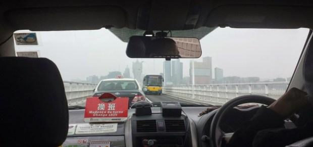 cab to Macau from Taipa